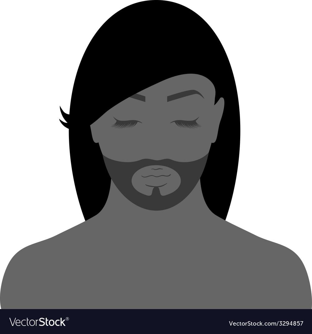Facial contours vector | Price: 1 Credit (USD $1)