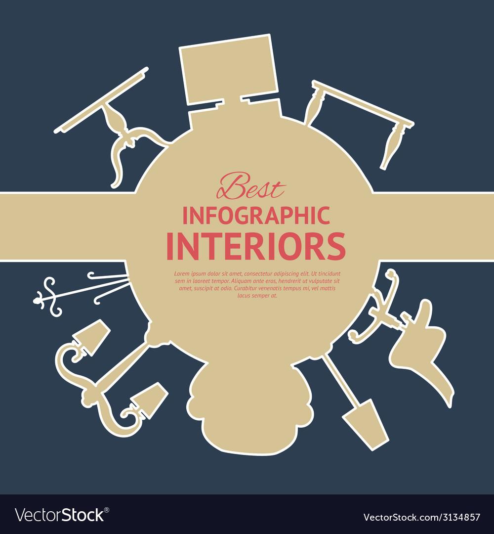 Interior circle infographics vector | Price: 1 Credit (USD $1)