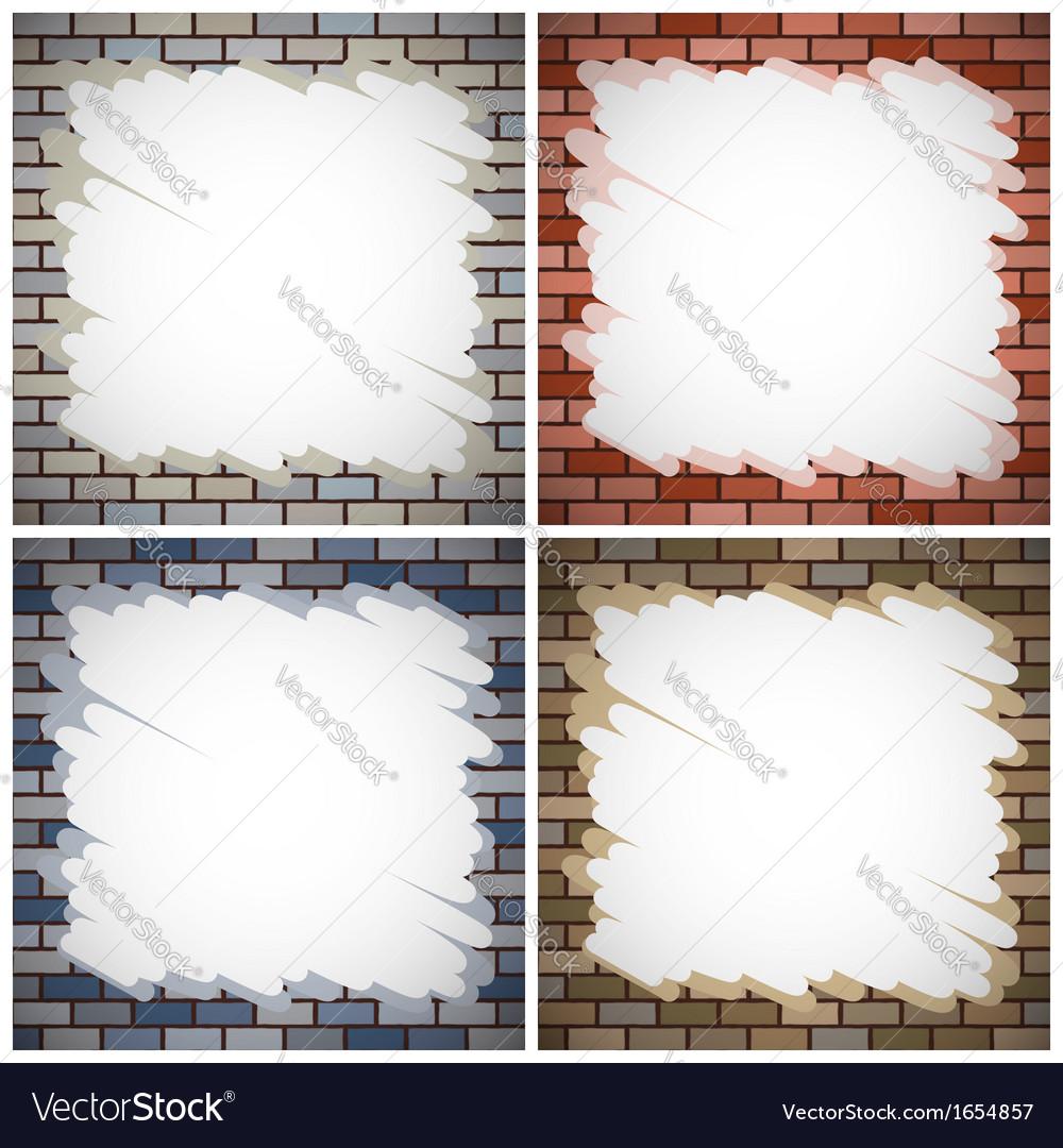 Painting brick walls vector | Price: 1 Credit (USD $1)