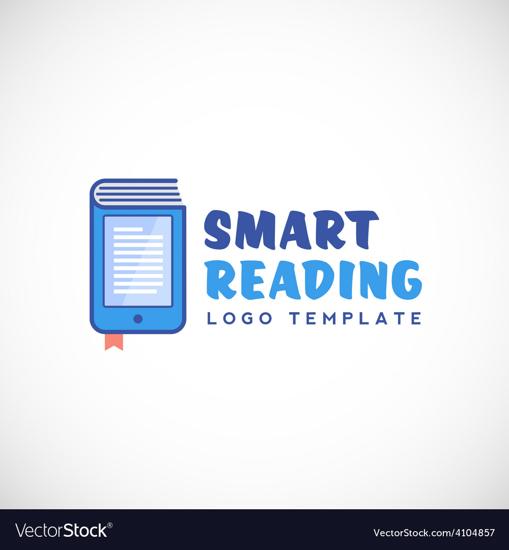Smart or mobile reading abstract logo vector | Price: 1 Credit (USD $1)
