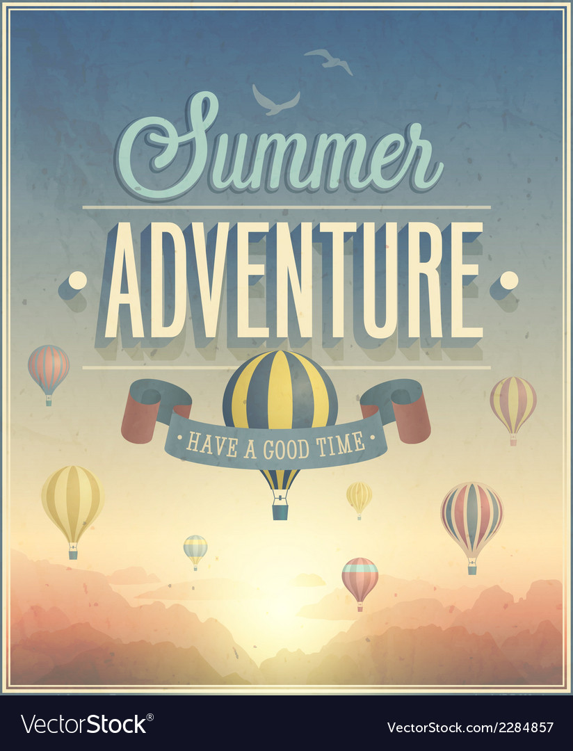 Summer adventure vector | Price: 1 Credit (USD $1)