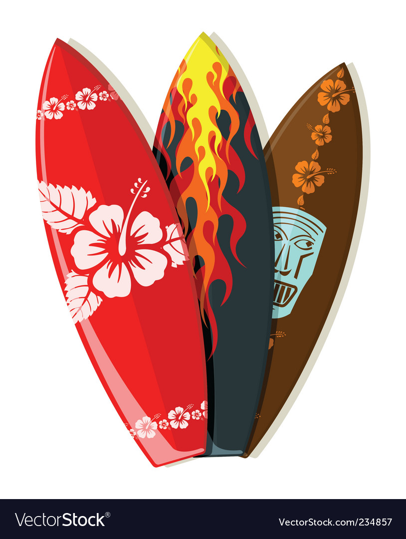 Surf boards vector | Price: 1 Credit (USD $1)