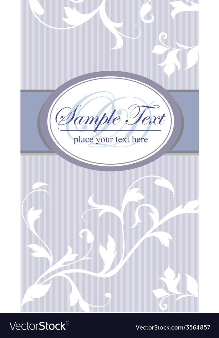Vintage frame on blue seamless floral background vector | Price: 1 Credit (USD $1)