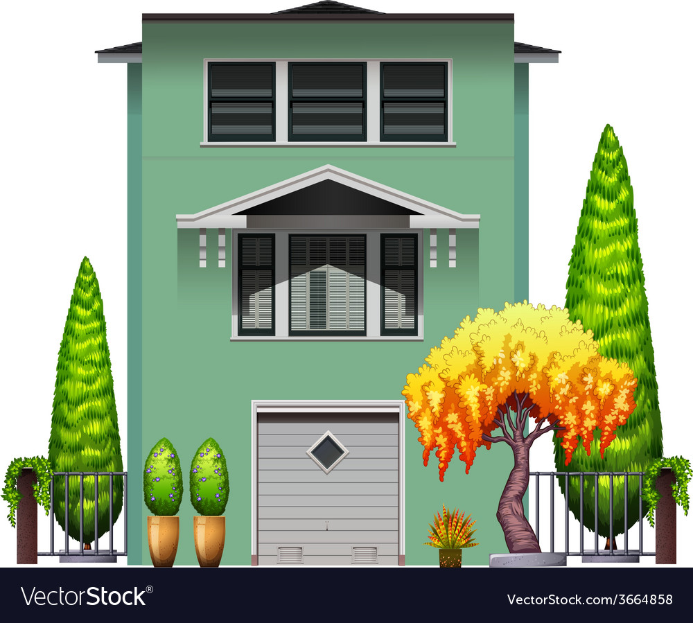A tall green building vector | Price: 3 Credit (USD $3)