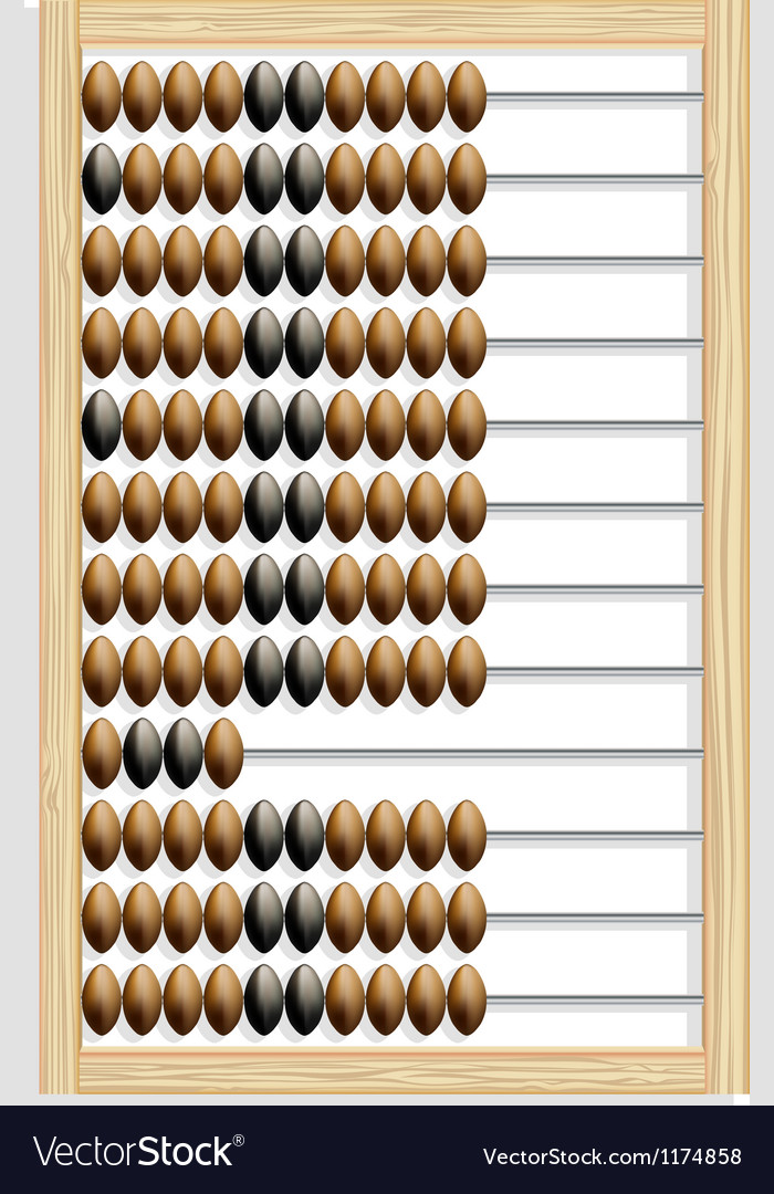 Abacus made of wood vector | Price: 1 Credit (USD $1)