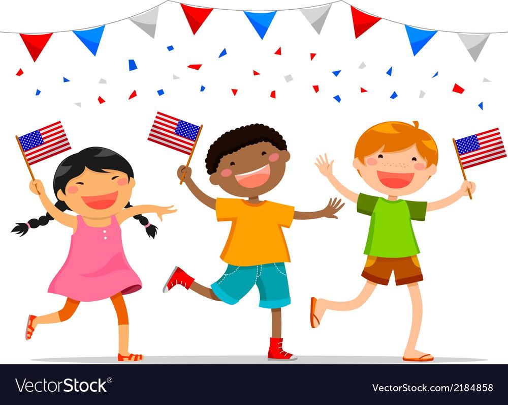 American kids vector | Price: 1 Credit (USD $1)