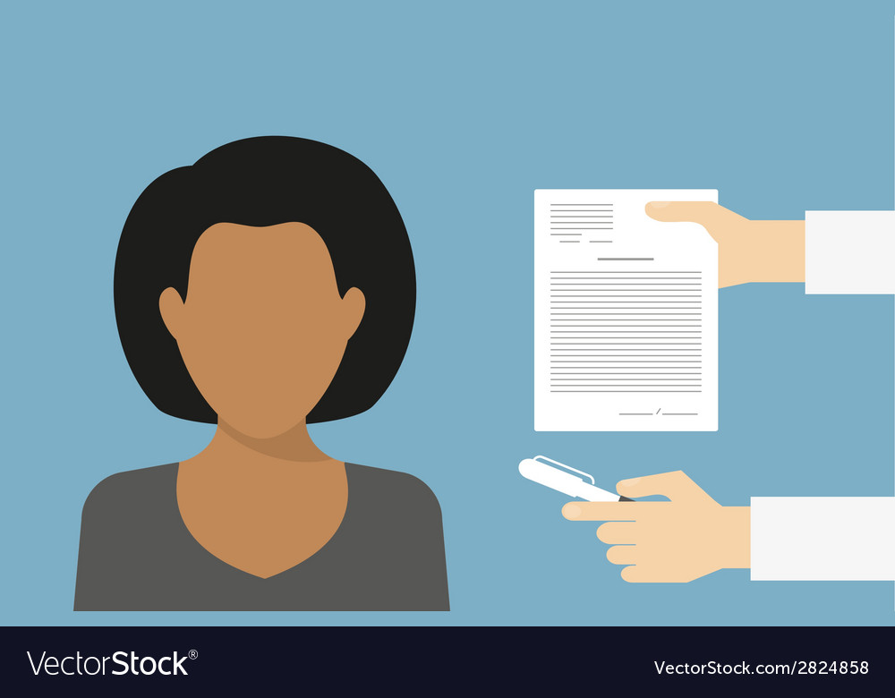 Business manager signing contract vector | Price: 1 Credit (USD $1)