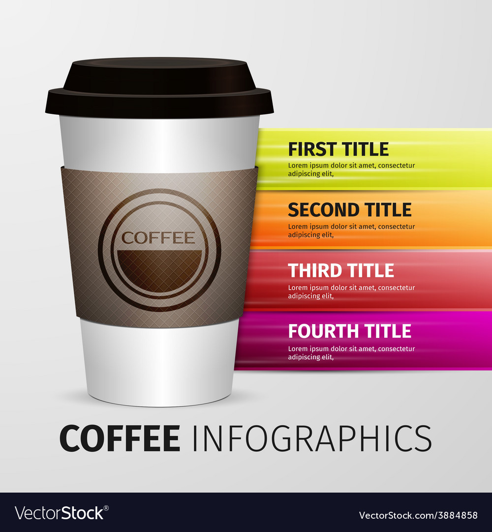 Coffee infographics vector | Price: 1 Credit (USD $1)
