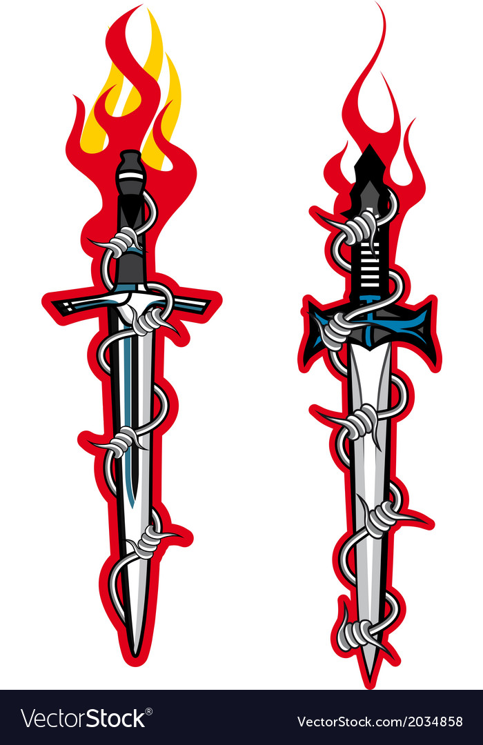 Dagger tattoo vector | Price: 1 Credit (USD $1)
