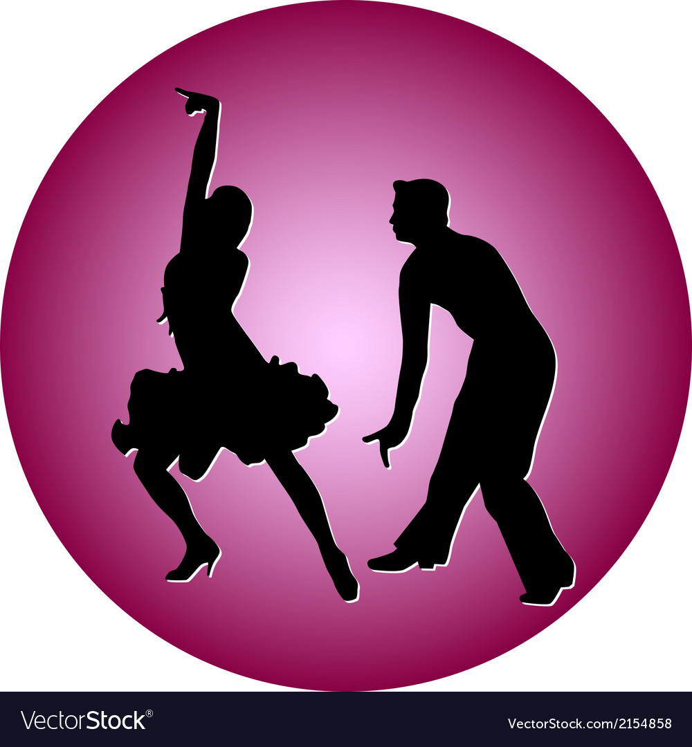 Dance people silhouette vector | Price: 1 Credit (USD $1)