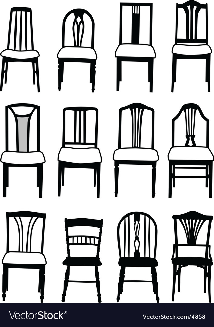 Dining chairs vector | Price: 1 Credit (USD $1)