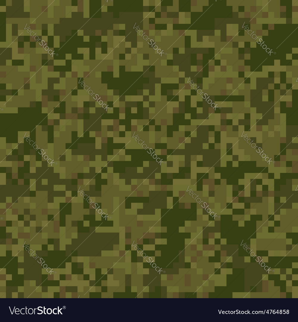 Green digit camouflage seamless pattern vector | Price: 1 Credit (USD $1)