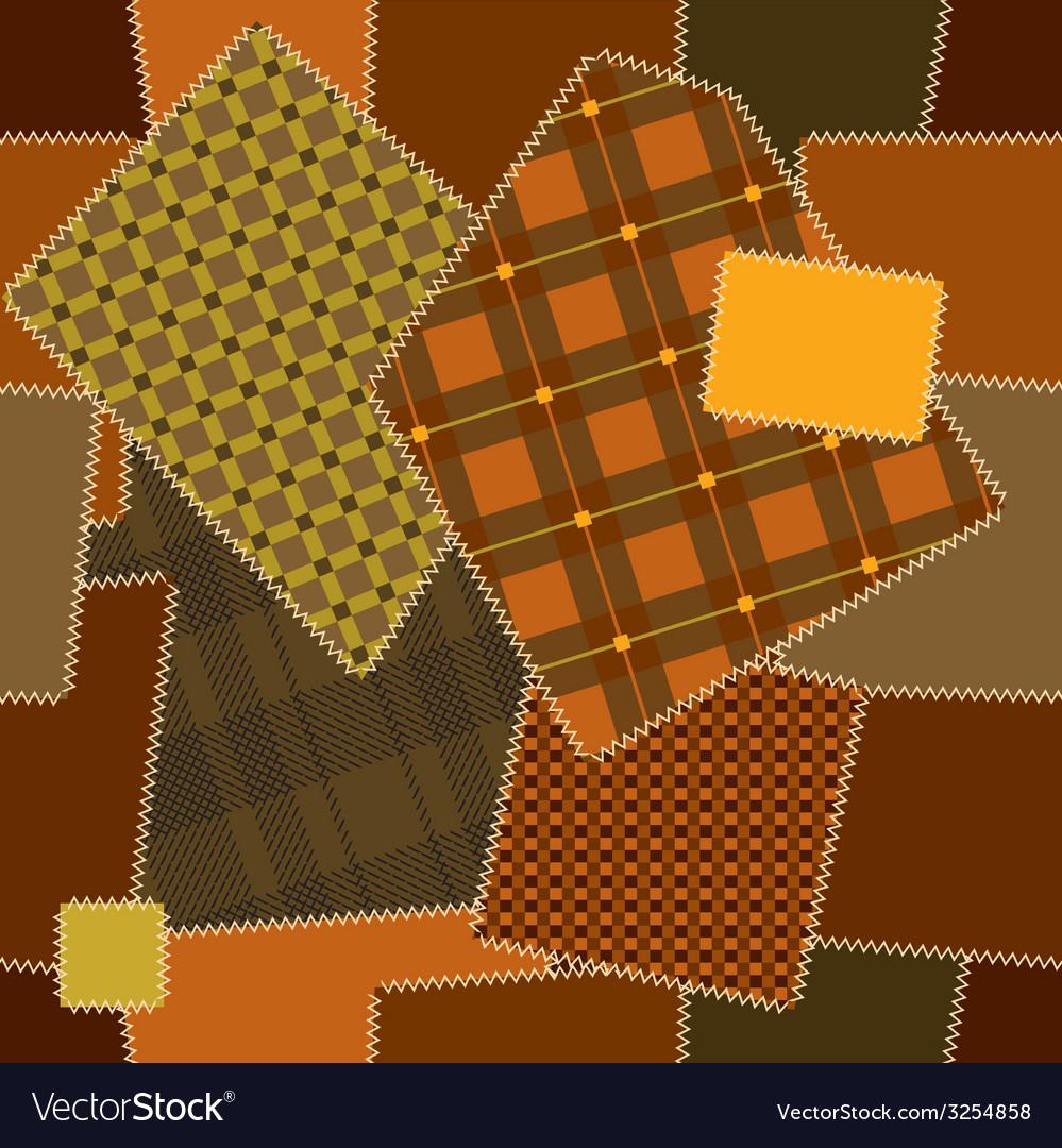 Imitation of quilting design vector | Price: 1 Credit (USD $1)