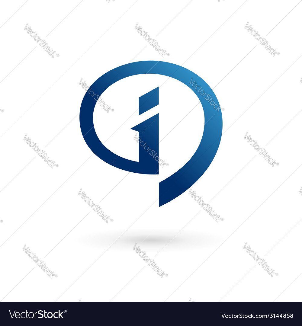 Letter i speech bubble info logo icon design vector | Price: 1 Credit (USD $1)