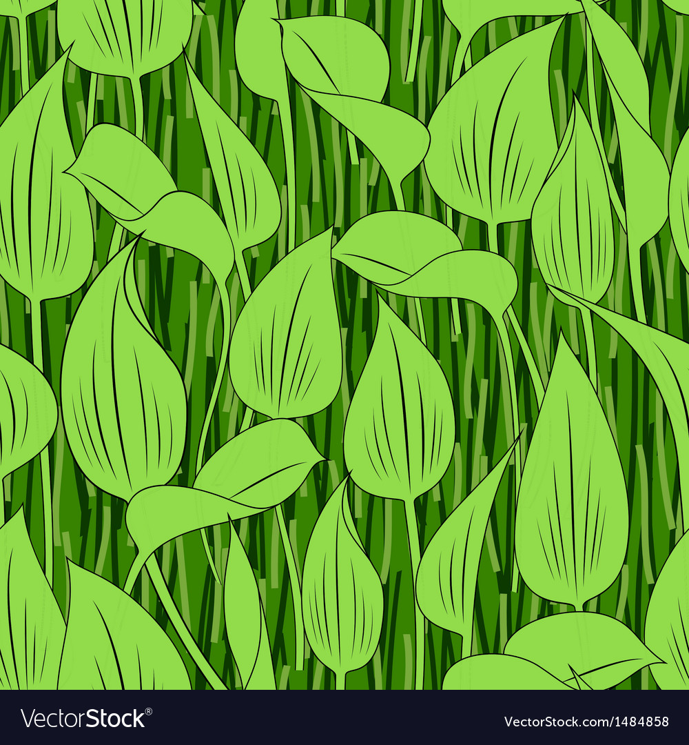 Seamless grass bog leaf background vector | Price: 1 Credit (USD $1)