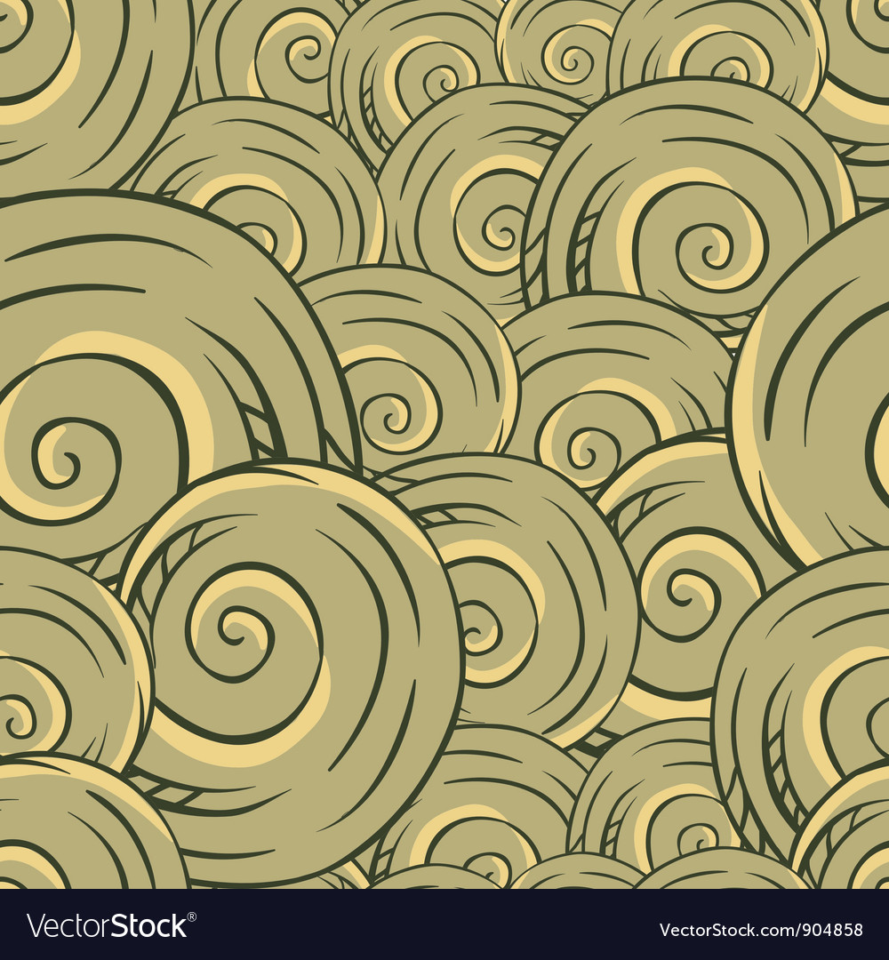 Seamless hand drawn texture of shells vector | Price: 1 Credit (USD $1)