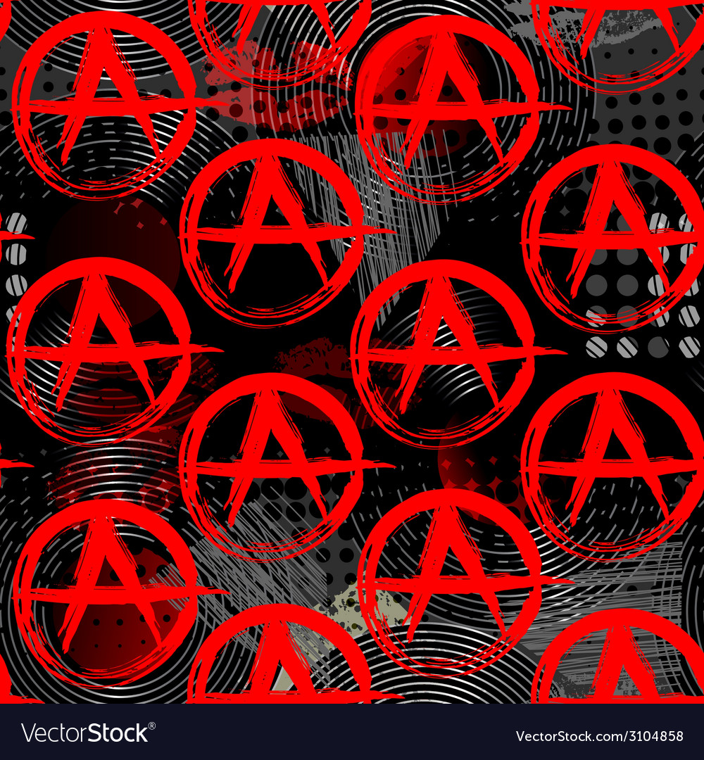 Symbols of anarchy punk pattern vector | Price: 1 Credit (USD $1)