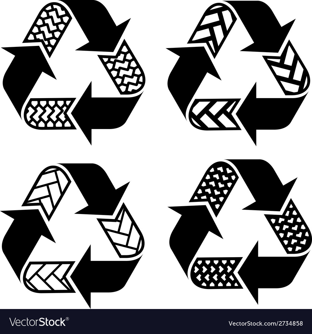 Trace tyre recycle symbols vector | Price: 1 Credit (USD $1)
