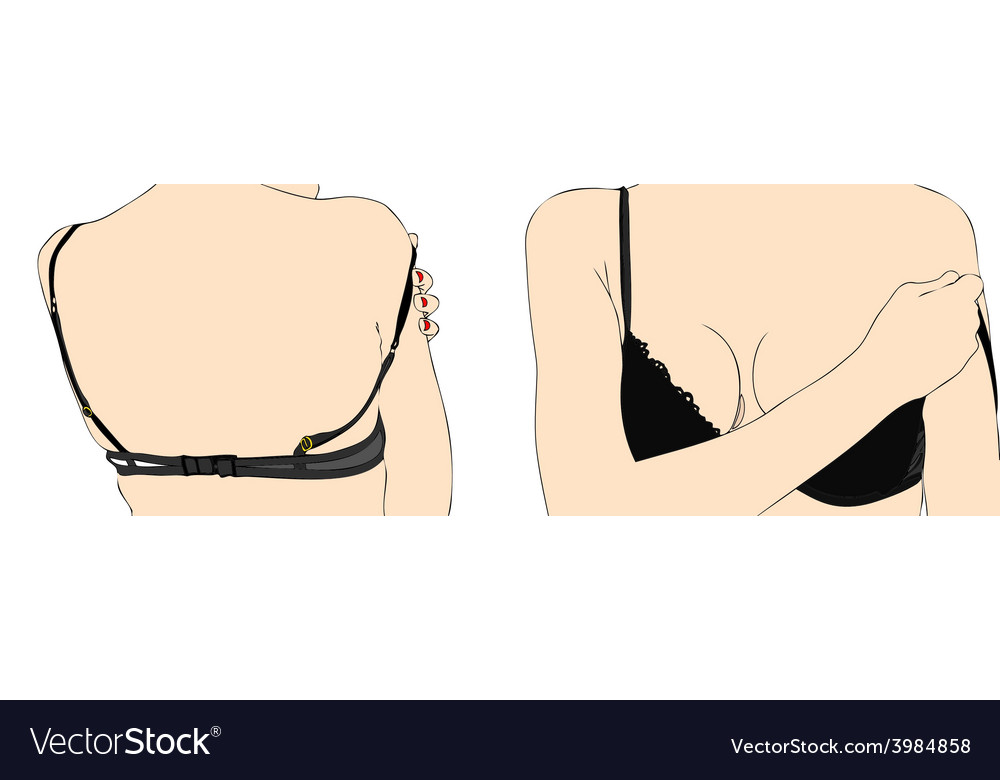 Woman with bra vector | Price: 1 Credit (USD $1)