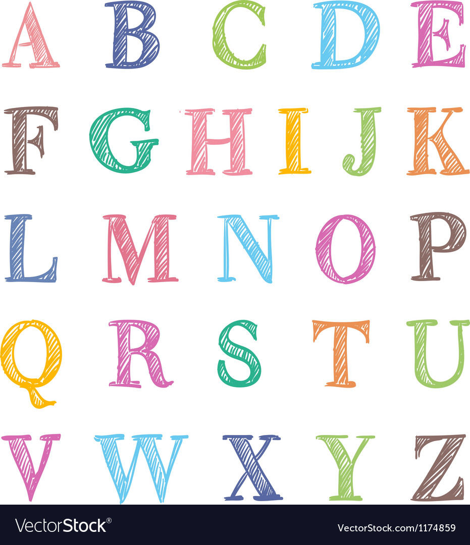 Abc marker set vector | Price: 1 Credit (USD $1)