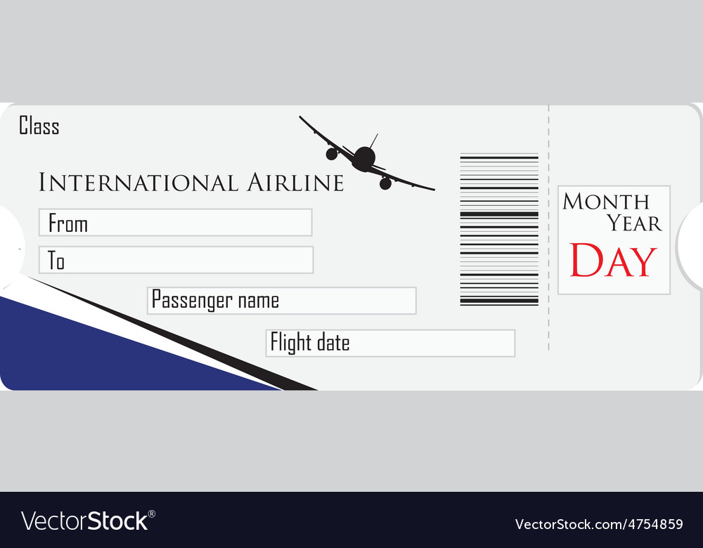 Airplane ticket vector | Price: 1 Credit (USD $1)