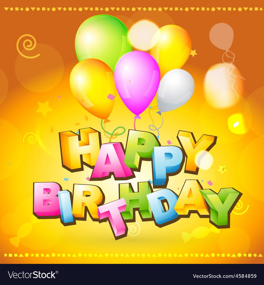 Birthday greeting card vector   Price: 1 Credit (USD $1)