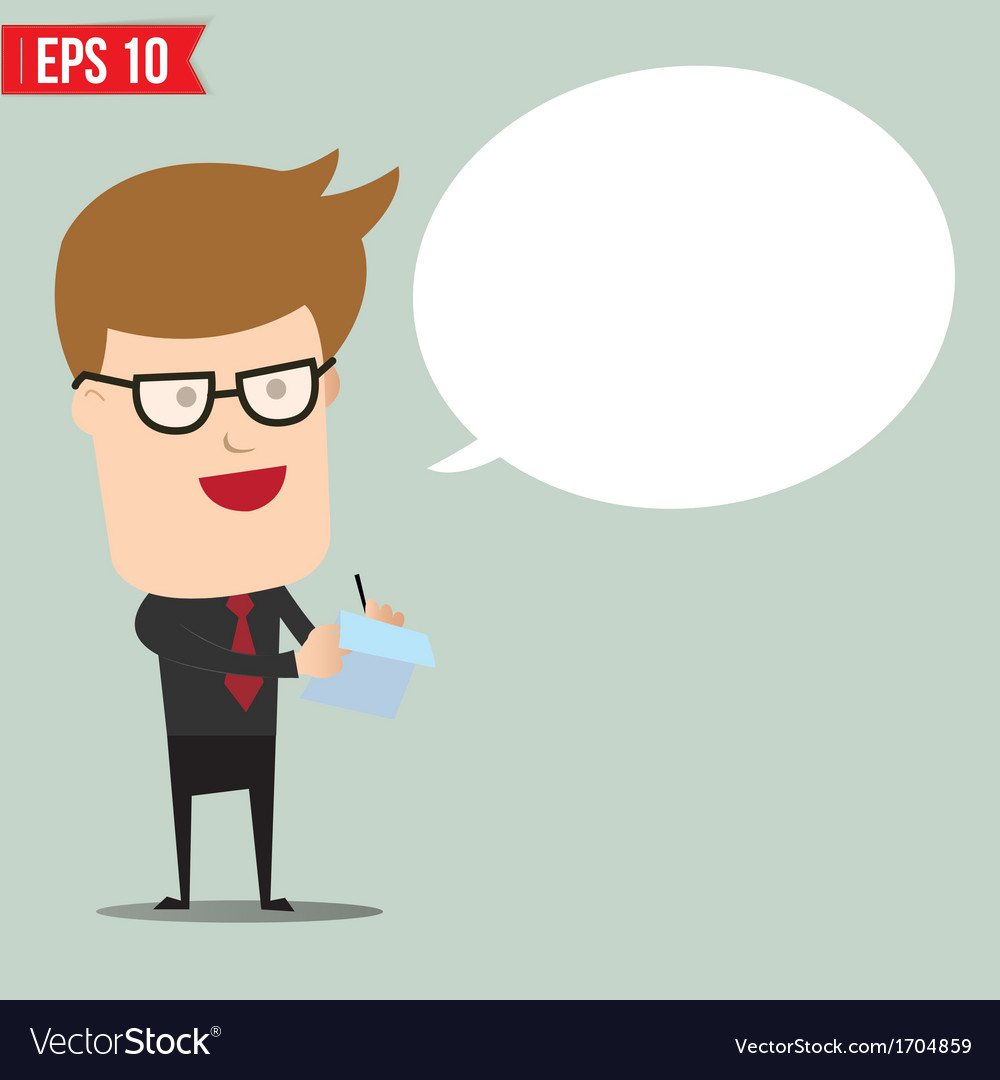 Business man writing a note - - eps10 vector | Price: 1 Credit (USD $1)