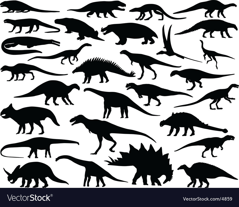 Dinosaurs vector | Price: 1 Credit (USD $1)