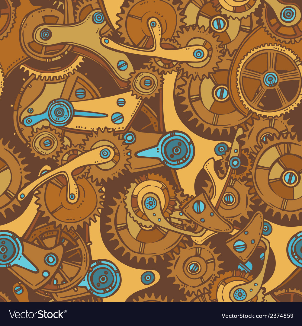 Engineers sketch seamless pattern color vector | Price: 1 Credit (USD $1)