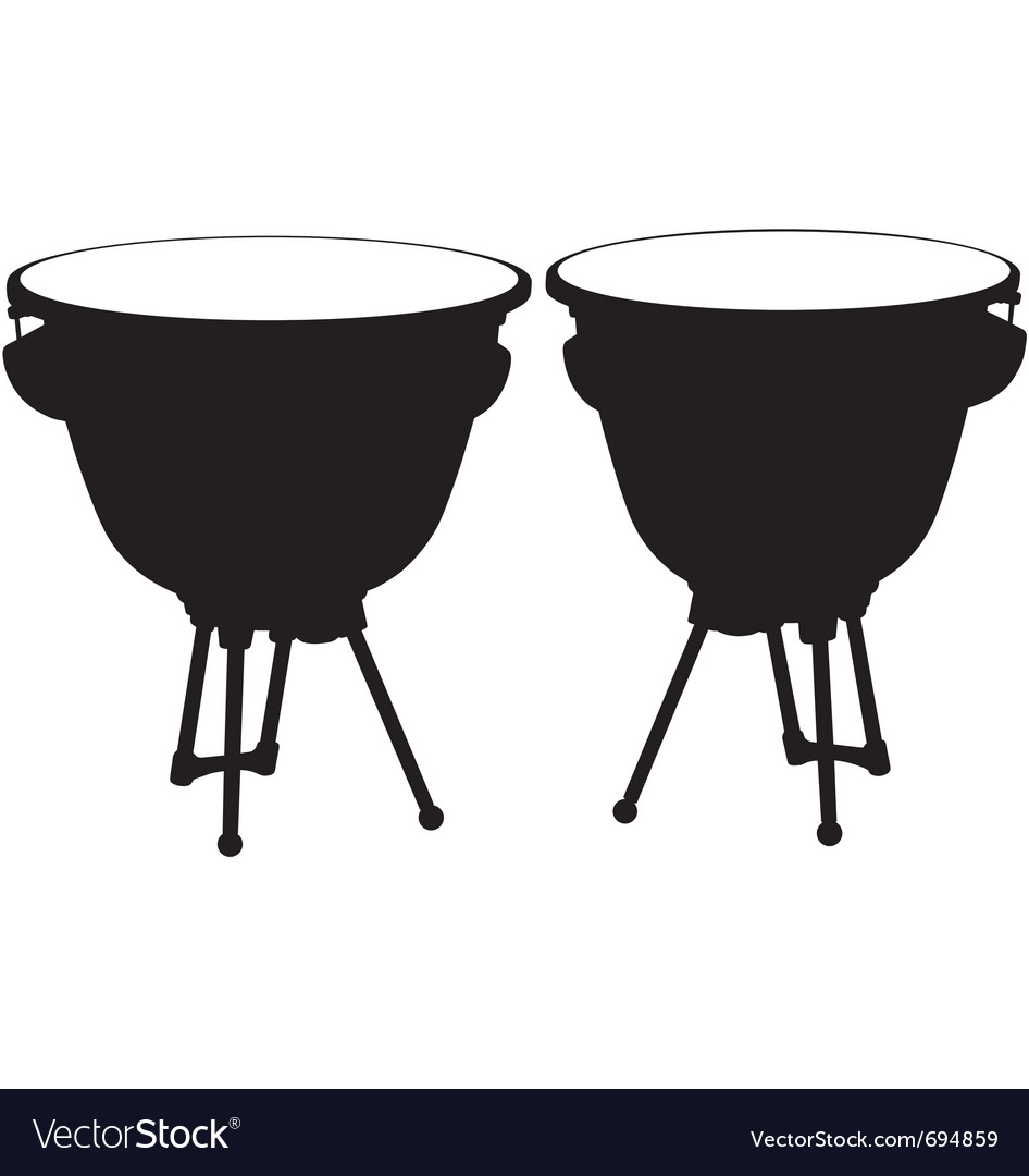 Kettle drum silhouette vector | Price: 1 Credit (USD $1)