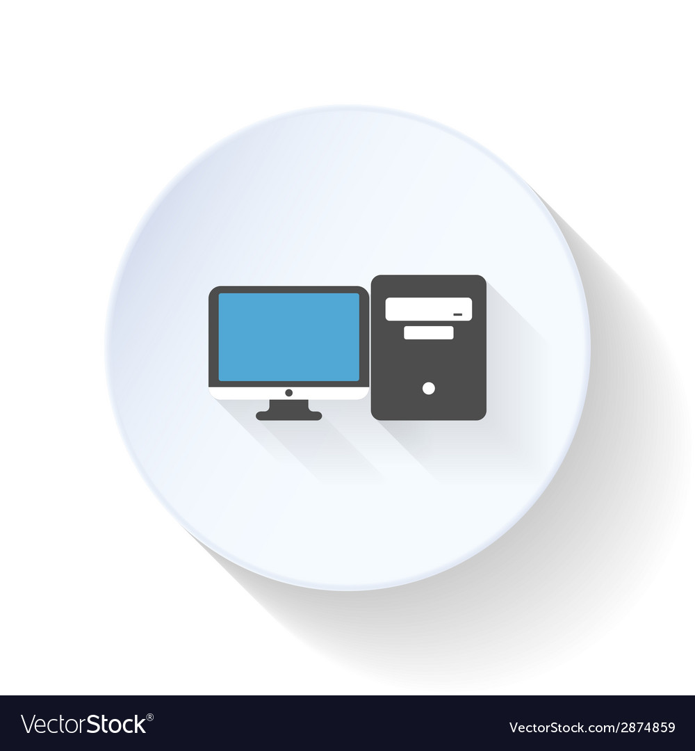 Modern computers flat icon vector | Price: 1 Credit (USD $1)