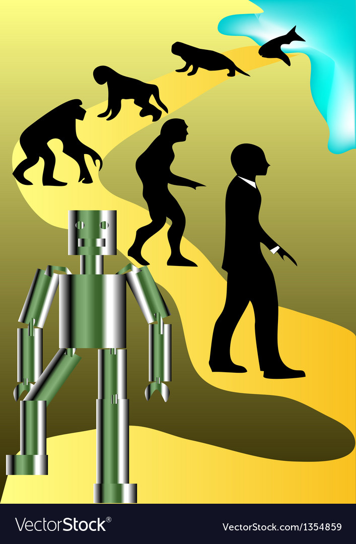 New round of human evolution vector | Price: 1 Credit (USD $1)