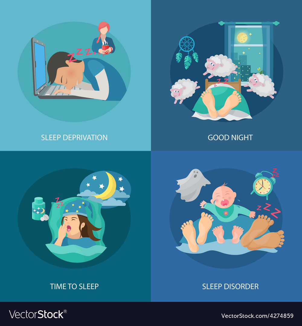 Sleep time flat vector | Price: 1 Credit (USD $1)