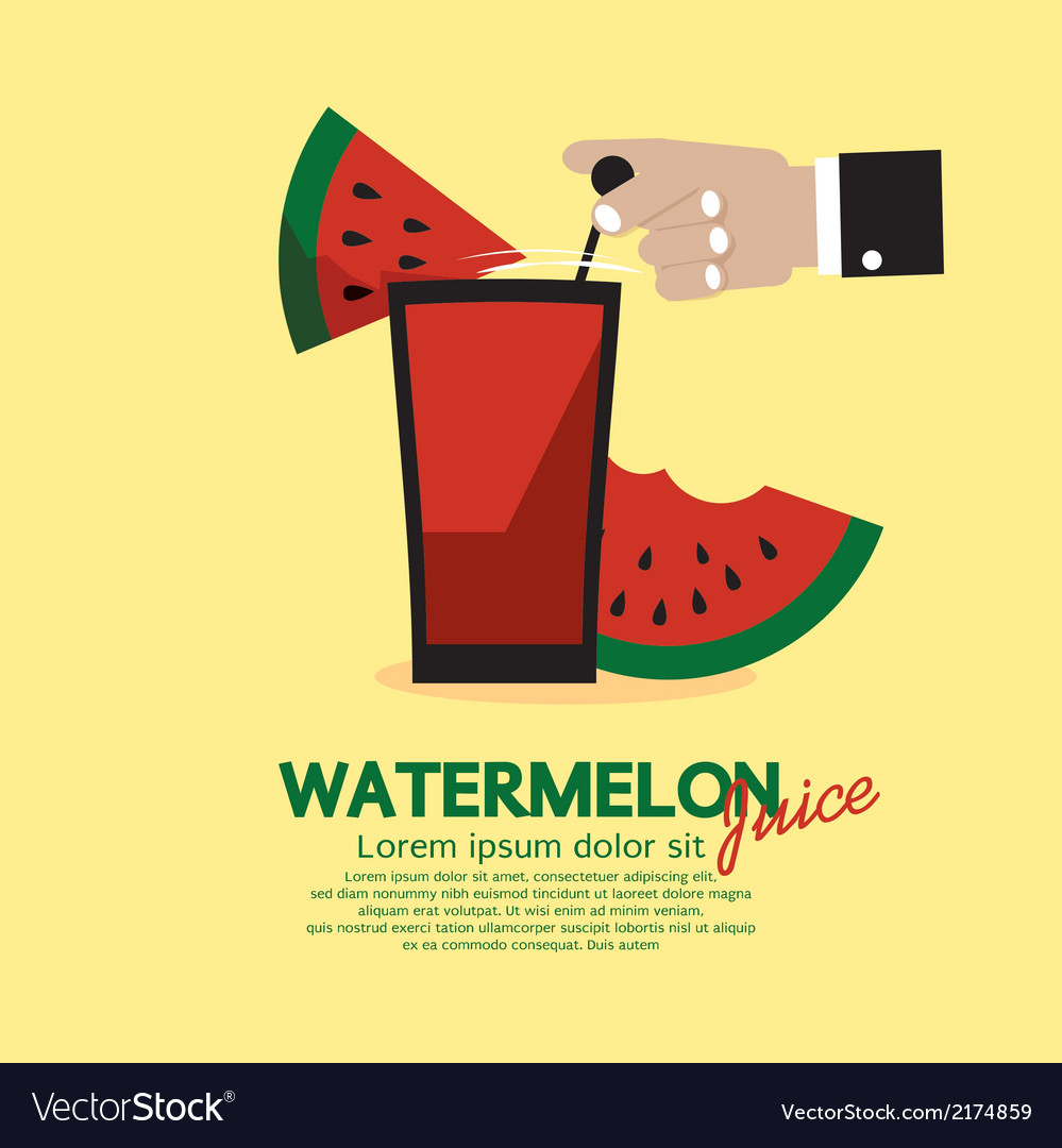 Watermelon juice vector | Price: 1 Credit (USD $1)