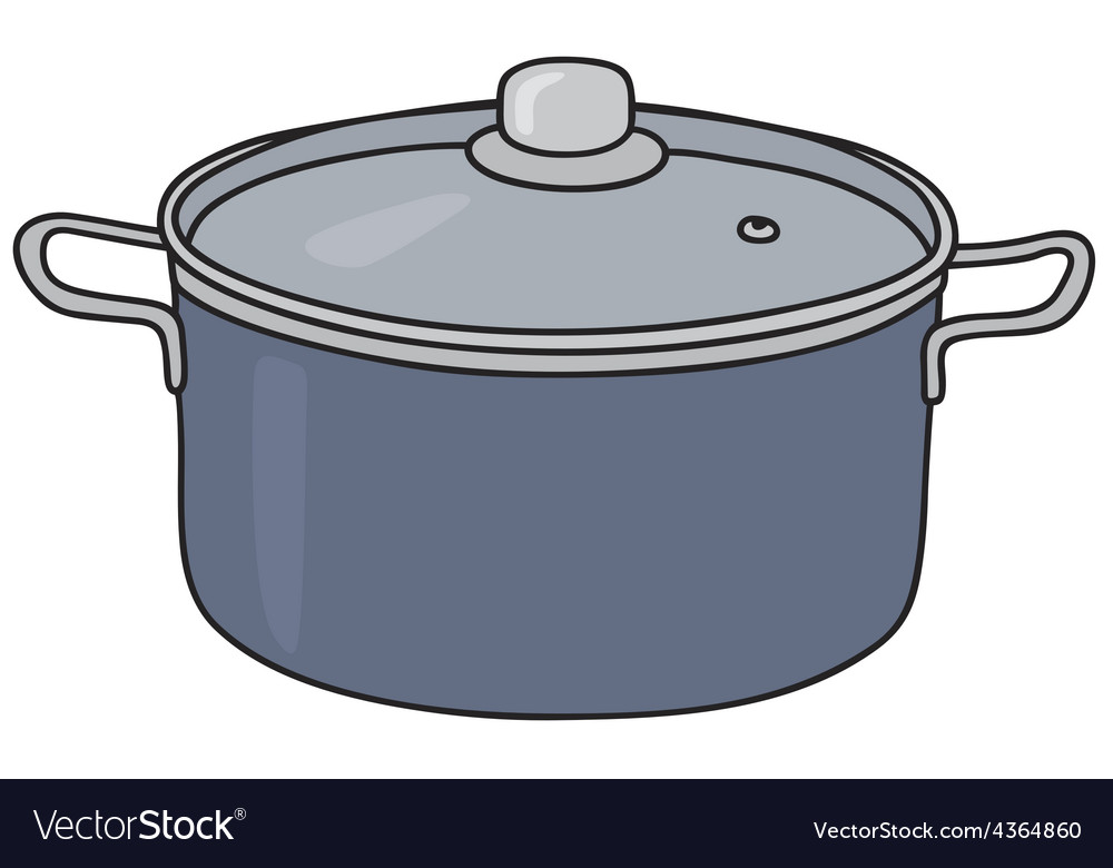 Blue steel pot vector | Price: 1 Credit (USD $1)