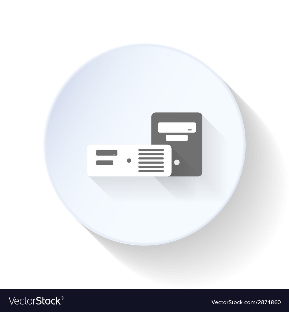 Chassis for desktop computers flat icon vector | Price: 1 Credit (USD $1)