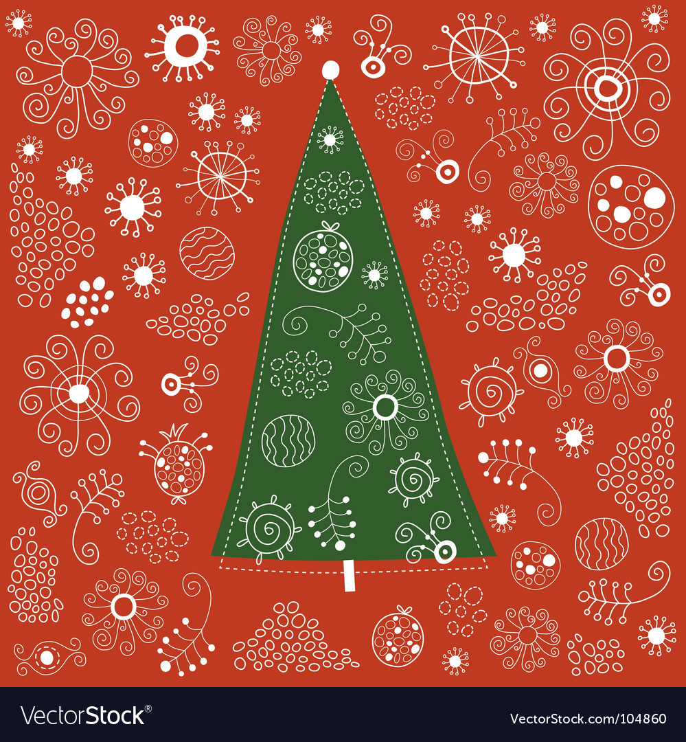 Christmas-tree vector | Price: 1 Credit (USD $1)