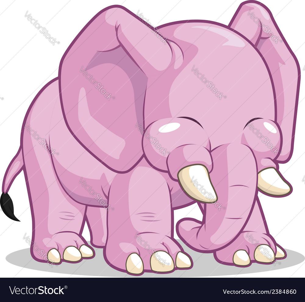 Cute elephant vector | Price: 1 Credit (USD $1)