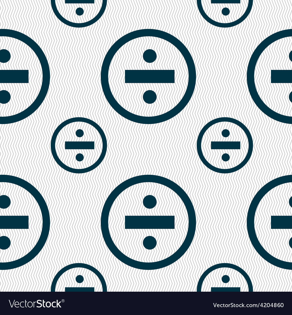 Dividing icon sign seamless pattern with geometric vector | Price: 1 Credit (USD $1)