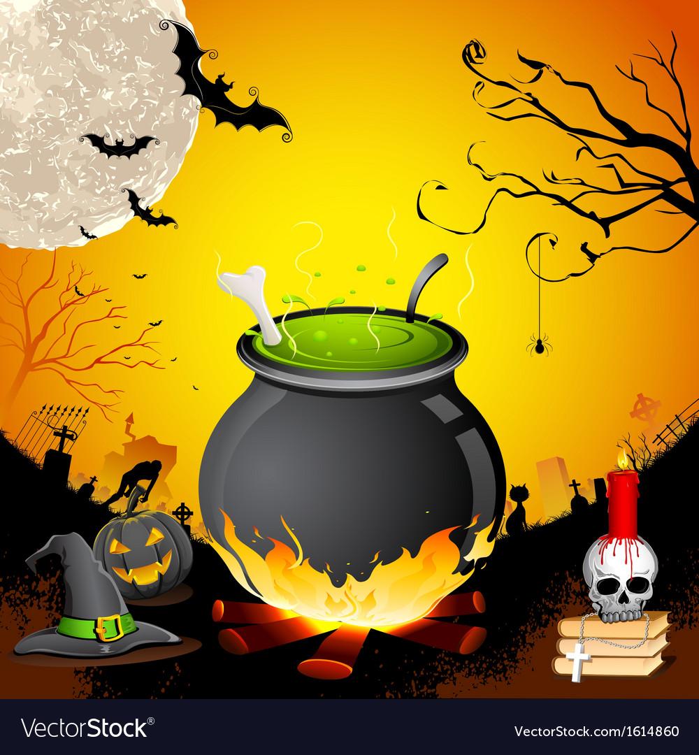 Halloween cauldron vector | Price: 1 Credit (USD $1)