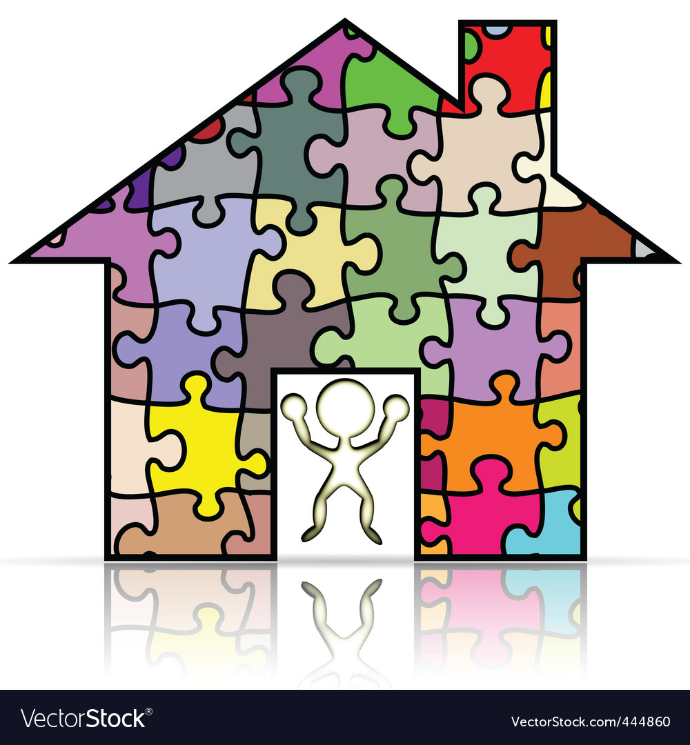 House puzzle vector | Price: 1 Credit (USD $1)
