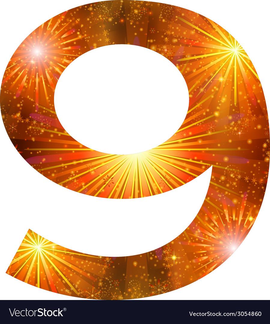Number of orange firework nine vector   Price: 1 Credit (USD $1)