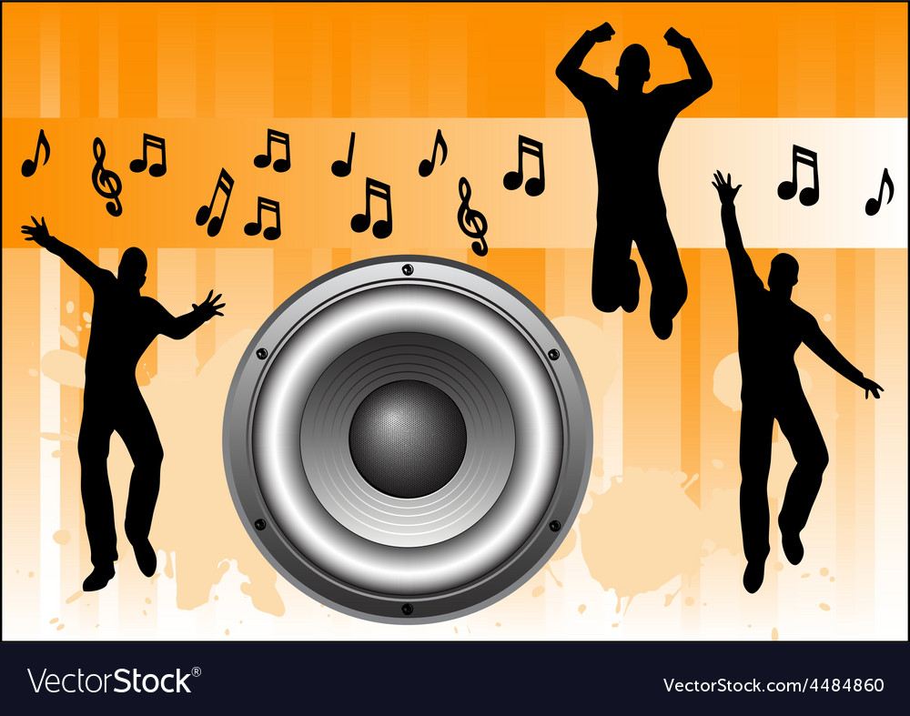 Orange music background vector | Price: 1 Credit (USD $1)