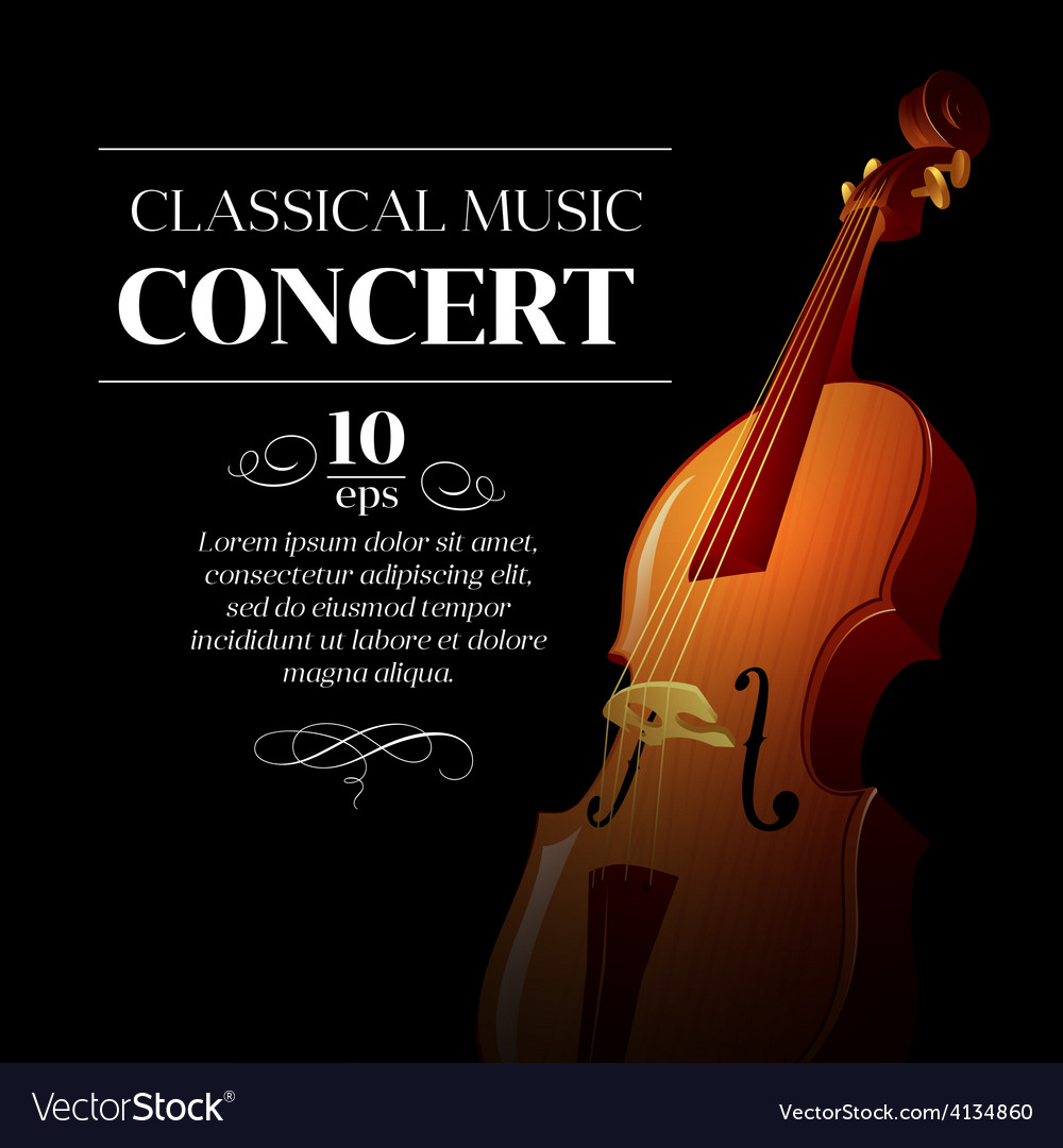 Poster of a classical music concert vector | Price: 3 Credit (USD $3)