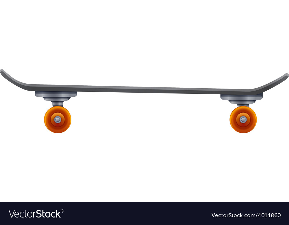 Skateboard with an orange roller vector | Price: 3 Credit (USD $3)