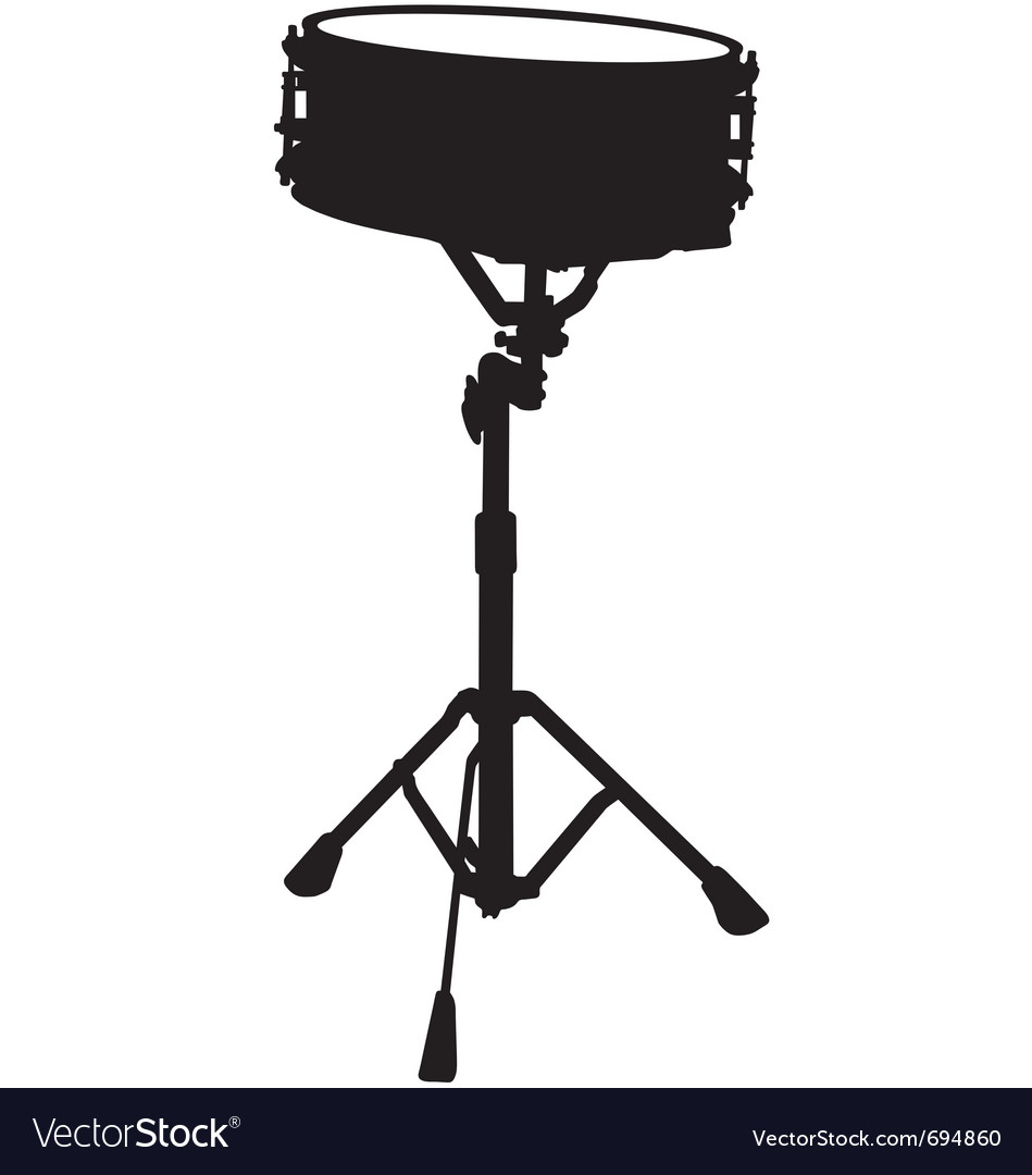 Snare drum silhouette vector | Price: 1 Credit (USD $1)