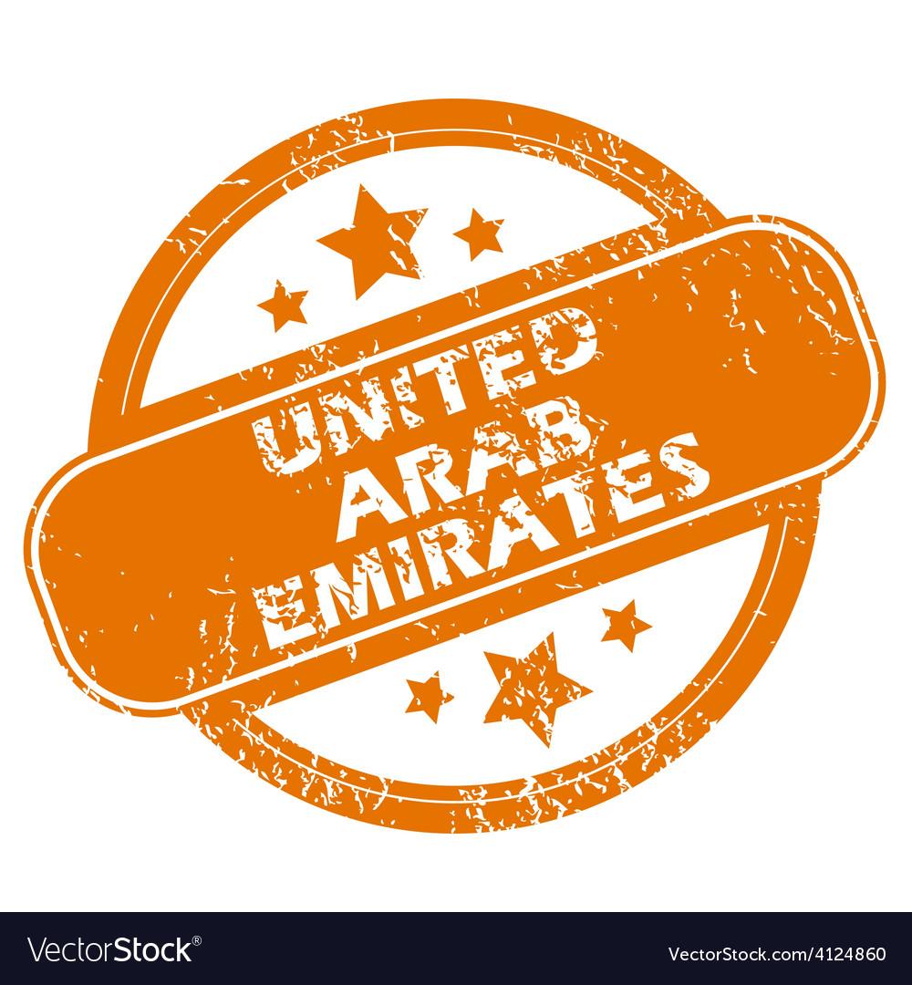 United arab emirates grunge icon vector | Price: 1 Credit (USD $1)