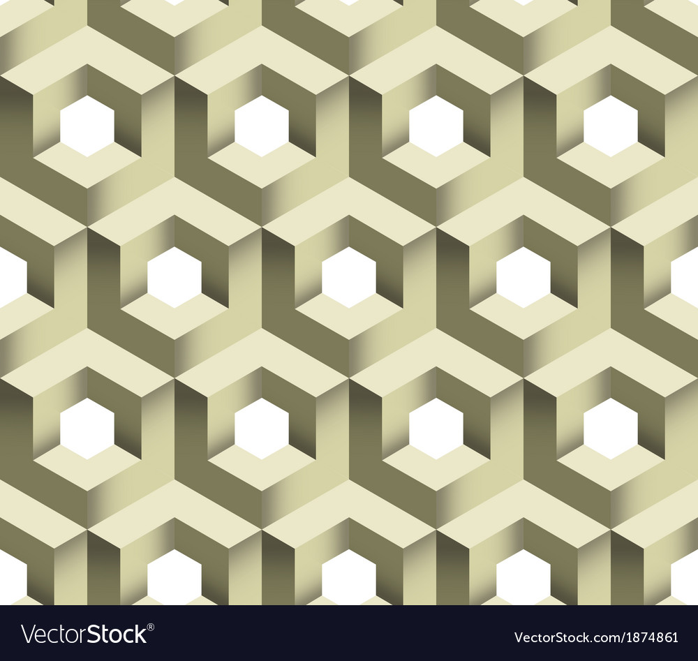 3d cube logo icon seamless pattern background vector | Price: 1 Credit (USD $1)