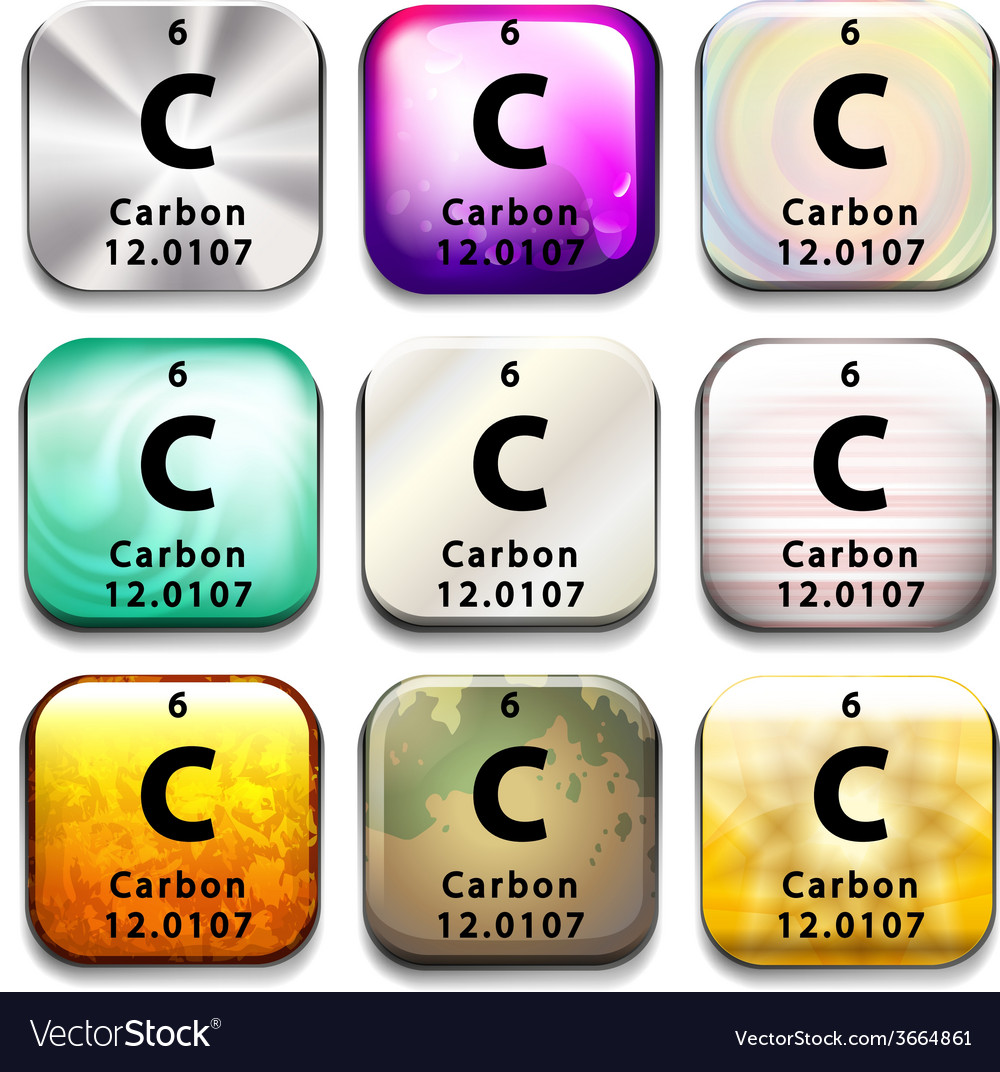 A periodic table showing carbon vector | Price: 1 Credit (USD $1)