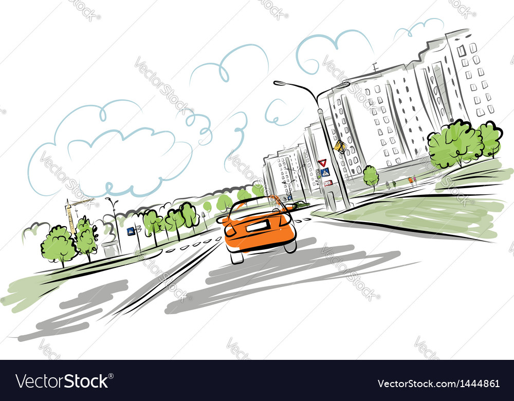 Ar on the city road for your design vector | Price: 1 Credit (USD $1)